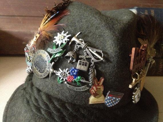 Bavarian German Hat with pins