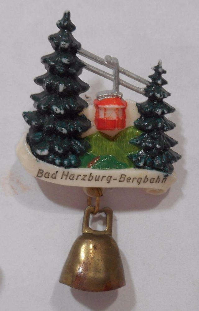 German Travel Souvenir Hat Pin Bad Harzburg Bergbahn Cable Car