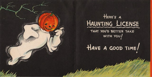 1945 halloween card