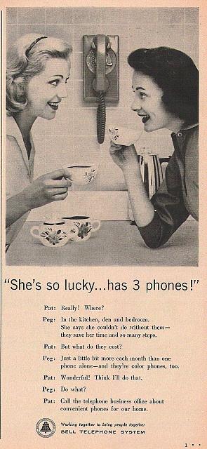 1950s telephone ad