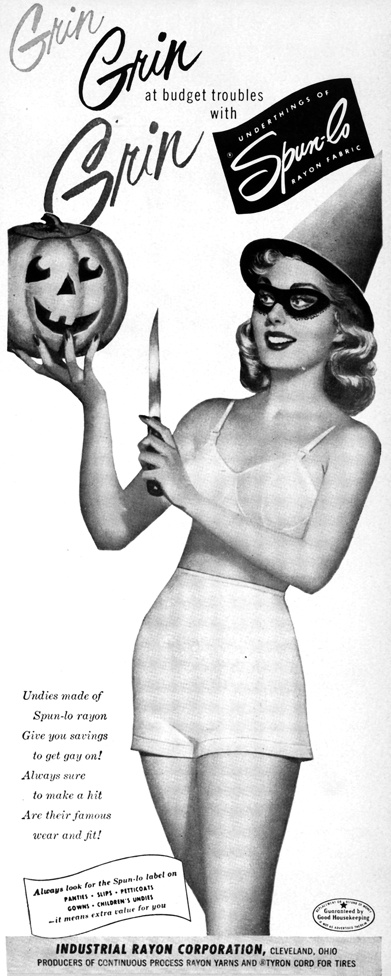 Spunlo ad 1950s halloween