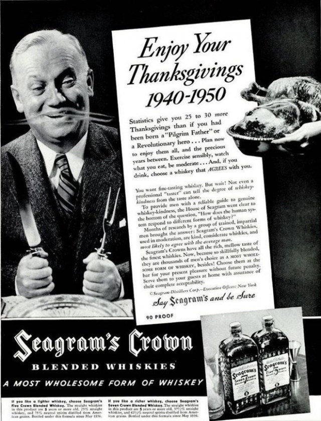 Vintage Seagrams Whiskey Ad