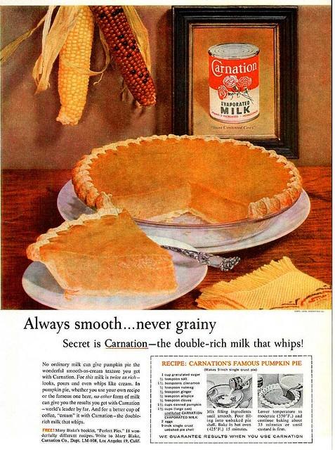 vintage 1950s pumpkin pie ad