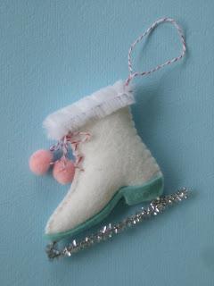 felt skate ornament