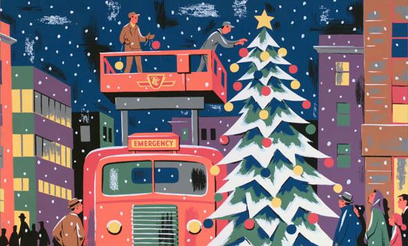 vintage Christmas TTC Ad