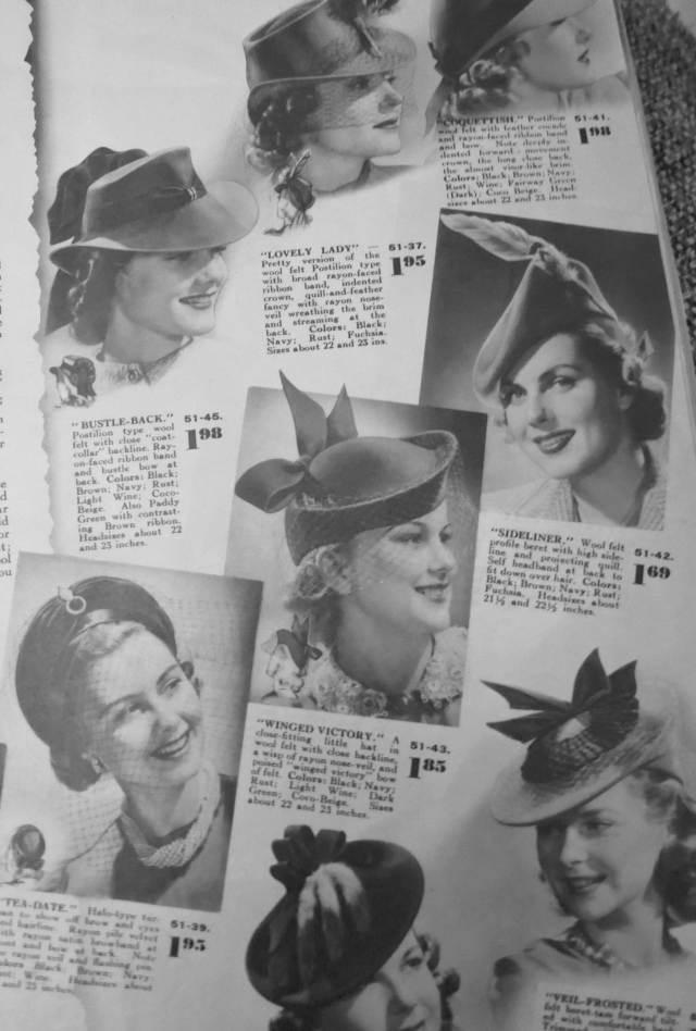 Late 1940, early 1941 women's fall winter hats