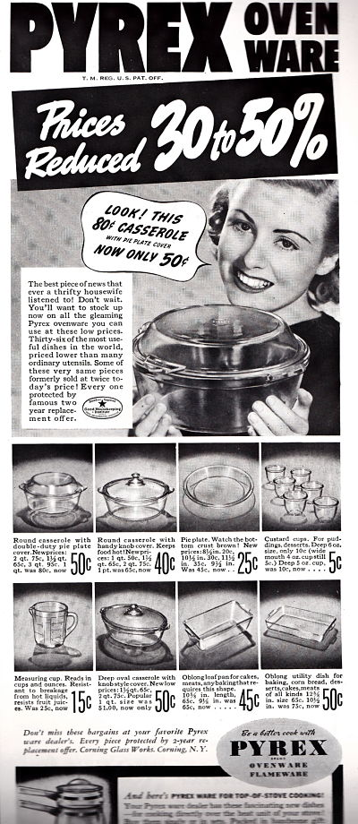 1930s Pyrex Ad