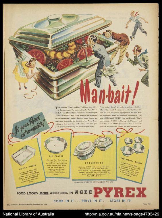 1940s vintage pyrex advertisement