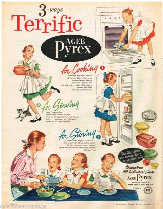 1950s vintage pyrex advertising