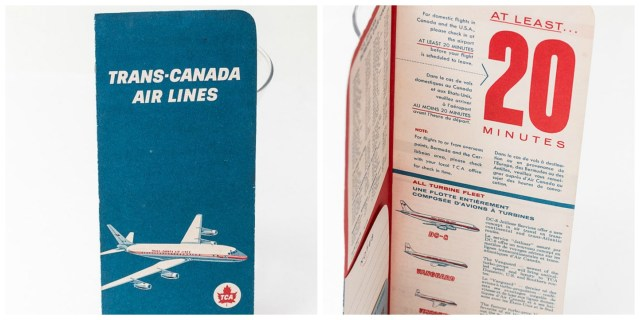 Trans Canada Air Lines Air Canada Vintage Boarding Pass Holder
