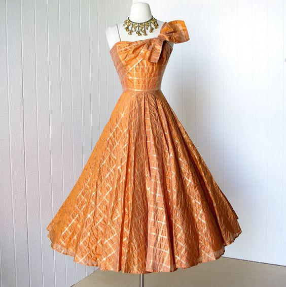 vintage 1950's dress ...stunning FRANK STARR ORIGINAL