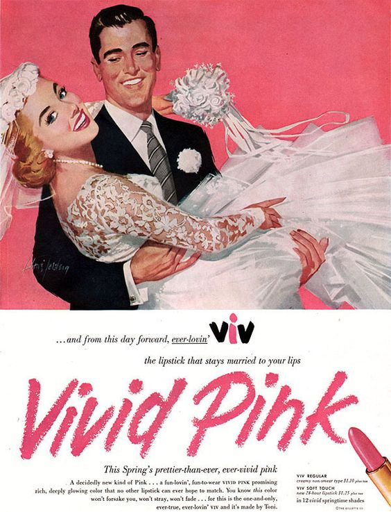 Vintage lipstick ad 1950s