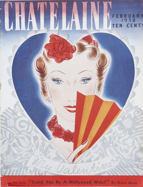 1938 винтаж Chatelaine обложка журнала