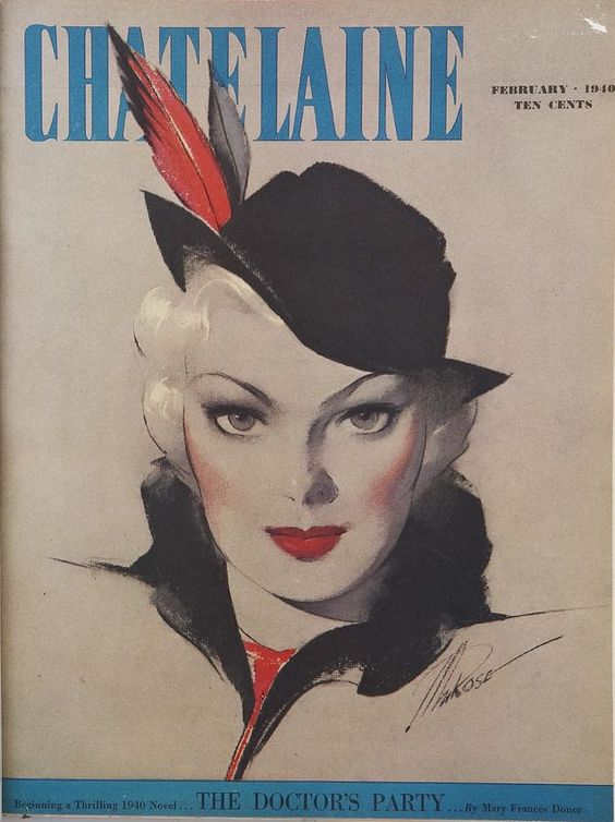 1940 vintage magazine cover chatelaine