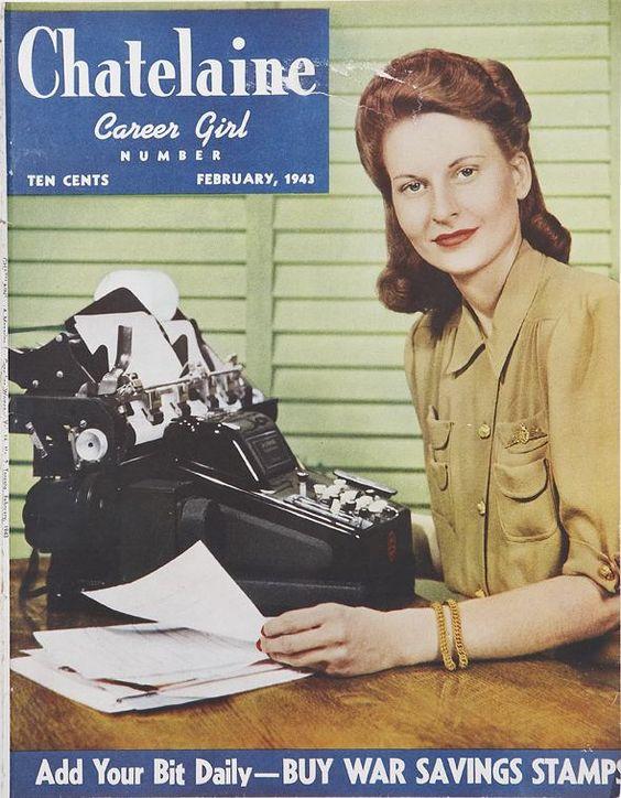 Chatelaine magazine cover 1940s