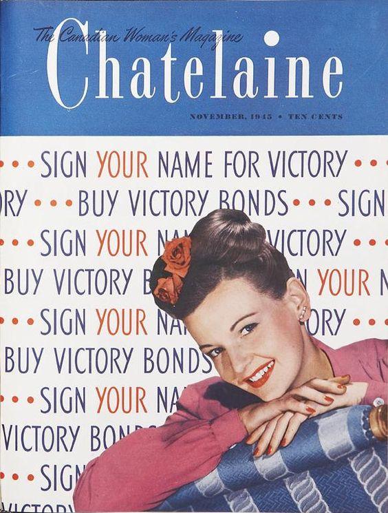 November 1943 vintage chatelaine magazine cover
