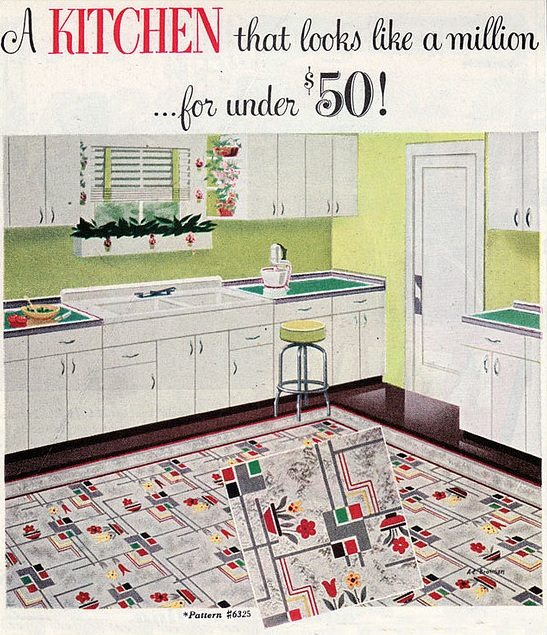 The Beautiful World of 1940s Linoleum Flooring - The Vintage Inn