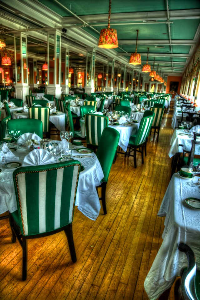 The dining room at the Grand Hotel on Mackinac Island.
