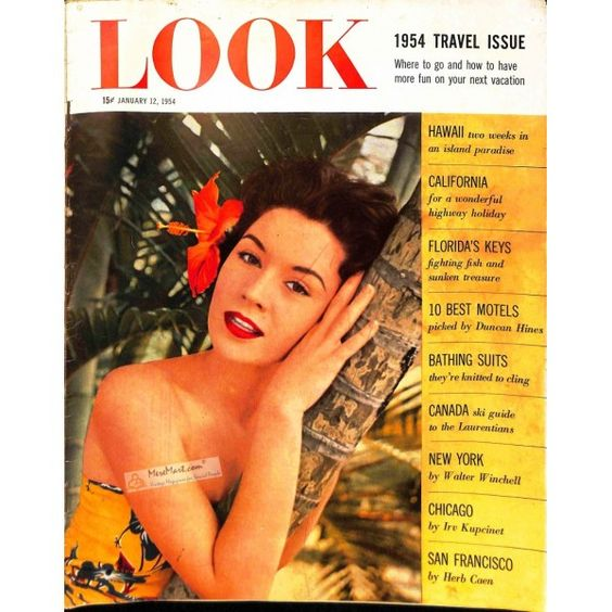 1954 vintage look magazine cover hawaiian