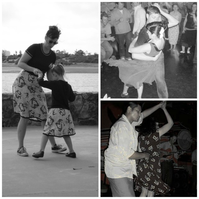 Lindy Hop Girl in the Jitterbug Dress