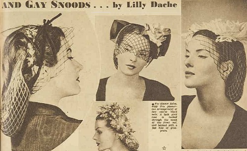 snoods by lilly dache 1945