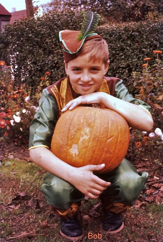 1950s Halloween Image Boy dressed as Robin Hood