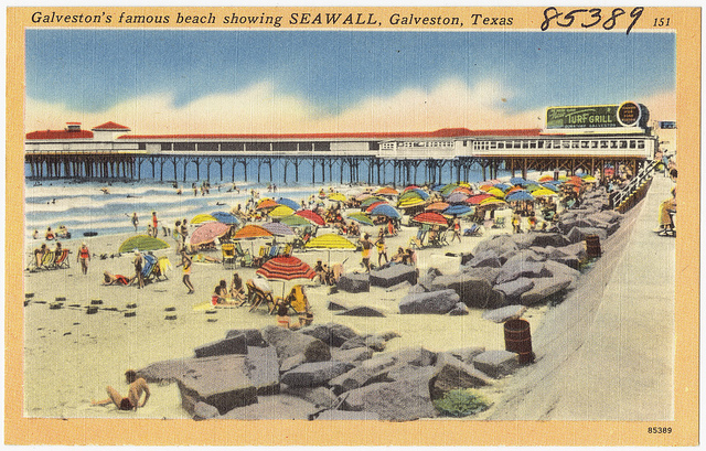 Galveston Texas vintage postcard