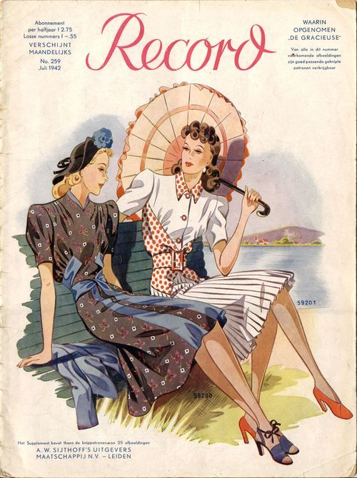 1940s-fashion-illustration-dutch-pattern-catalogue-record-july-1942