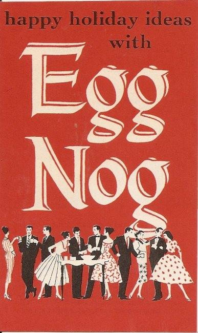 egg nog vintage ad
