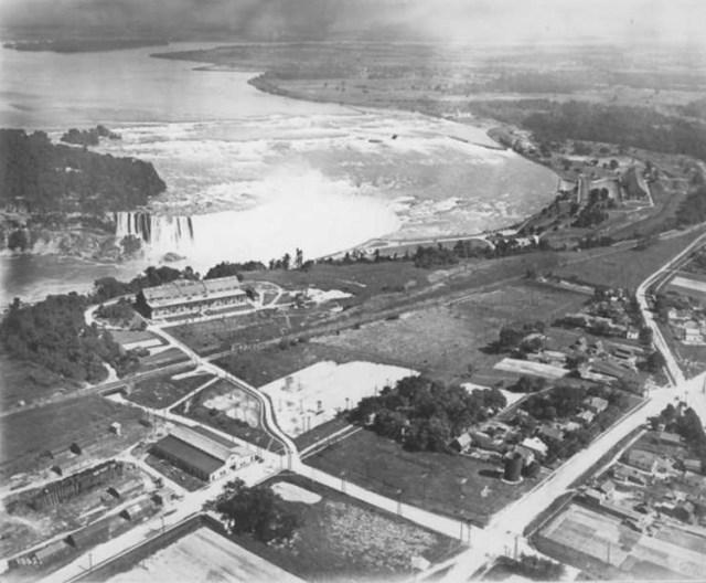 1920s Niagara Falls Aerial View vintage image