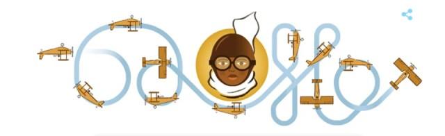 Bessie Coleman birthday google doodle