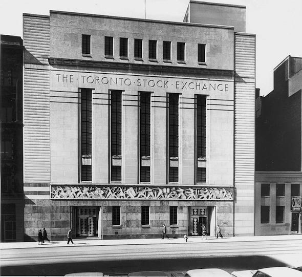 Design Exchange Toronto Stock Exchange Vintage Art Deco Building