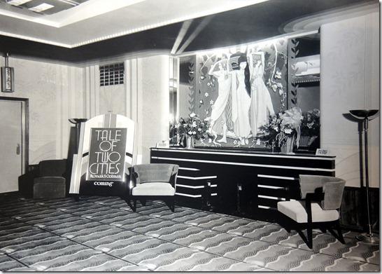 Eglinton Cinema vintage image of lobby Toronto 1936