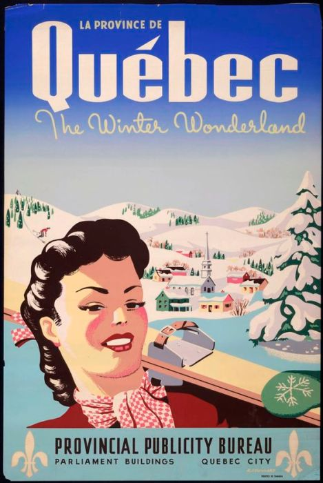 Quebec Vintage Travel Poster