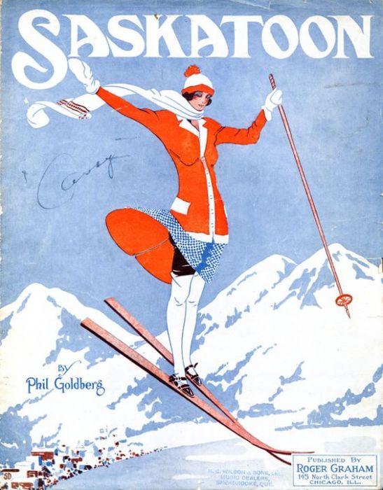 Vintage Travel Poster Saskatoon
