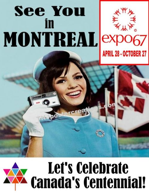 montreal expo 67 vintage poster
