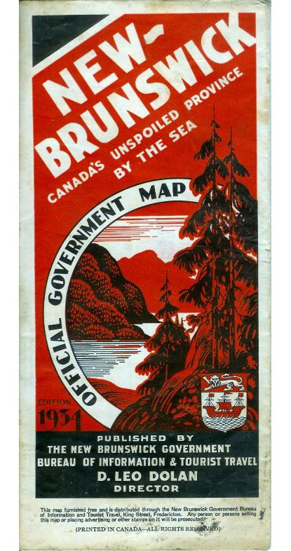 vintage new brunswick travel advertising