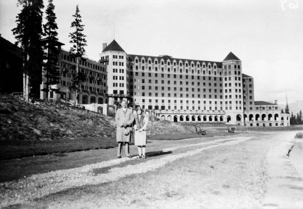 Chateau Lake Louise 1928 vintage image