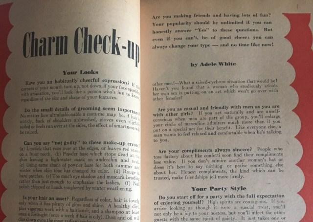 1940's charm school tips