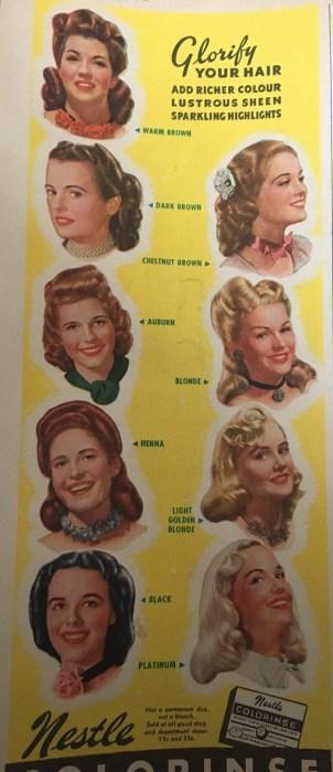 1940's Vintage hairstyles vintage ad
