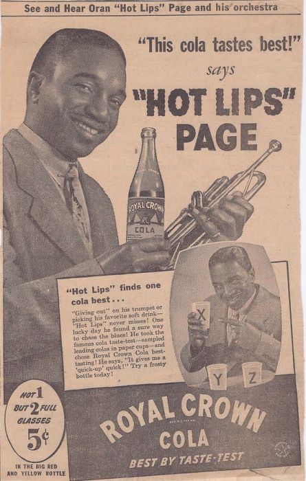 Hot lips Page RC Cola Vintage ad