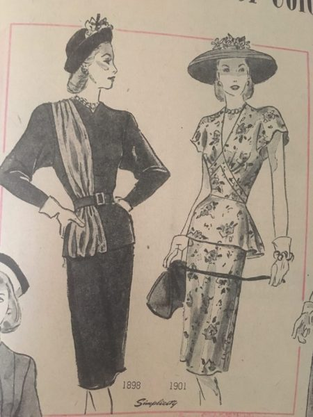 1947 Vintage women's fashion vintage illustration