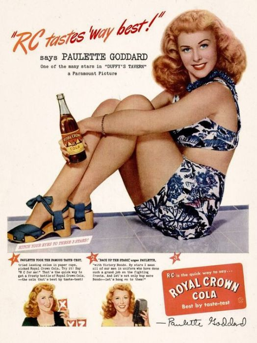 Paulette Goddard for Royal Crown Cola (1945)