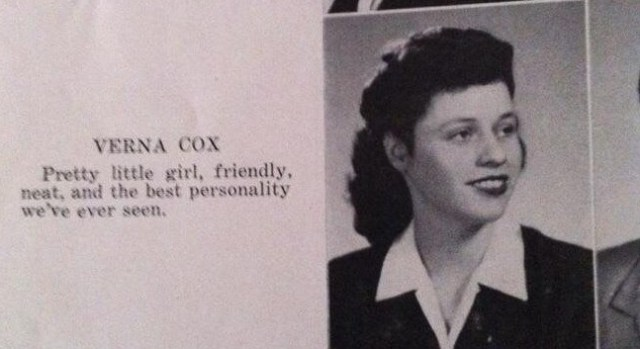 1940's yearbook photo
