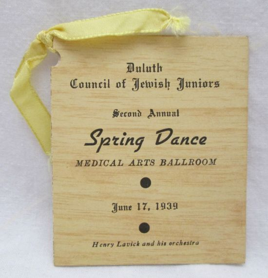 Mouse over image to zoom Vintage-June-17-1939-Duluth-Mn-Council-of-Jewish-Juniors-Spring-Dance-Card Vintage-June-17-1939-Duluth-Mn-Council-of-Jewish-Juniors-Spring-Dance-Card Vintage-June-17-1939-Duluth-Mn-Council-of-Jewish-Juniors-Spring-Dance-Card Have one to sell? Sell it yourself Details about Vintage June 17 1939 Duluth Mn. Council of Jewish Juniors Spring Dance Card