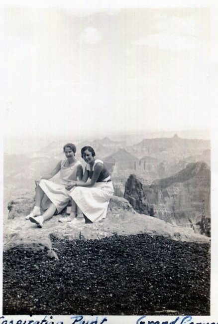 Inspiration Point, Grand Canyon 1930s vintage photo
