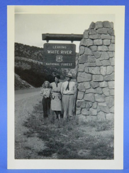 White River National Forest 1948 Colorado Vacation B & W Photo Snapshot
