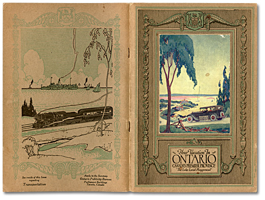 1926 Ontario Travel Guide Booklet