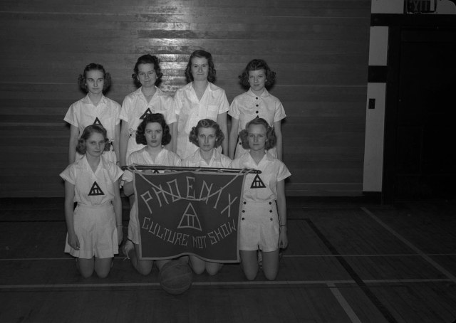 1940's university of wisconsin womens basketball club