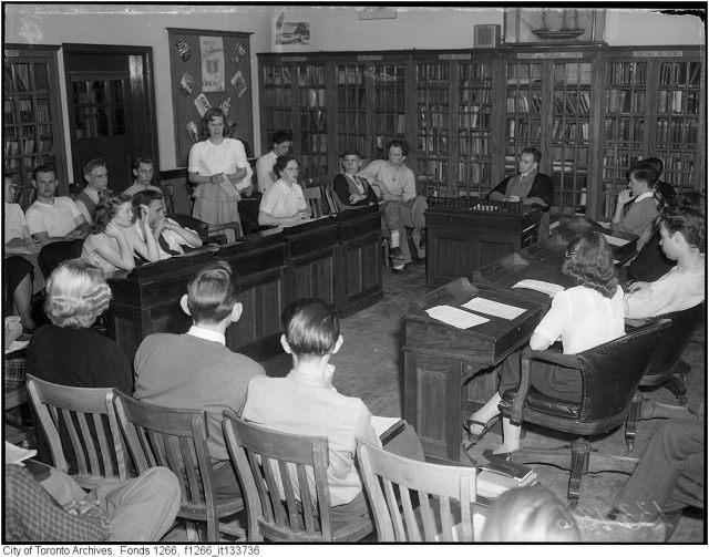 1949 East York Toronto Student Panel Vintage Image student life